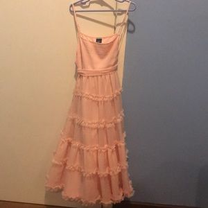 Gap Kids pink ruffle dress